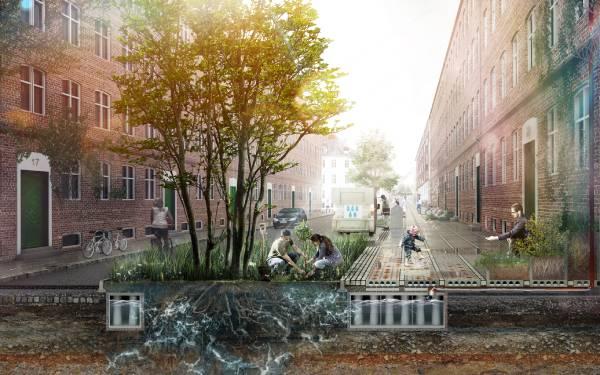 arquitetura para combater inundações