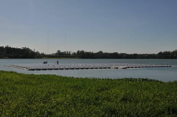 usina solar flutuante na represa Billings