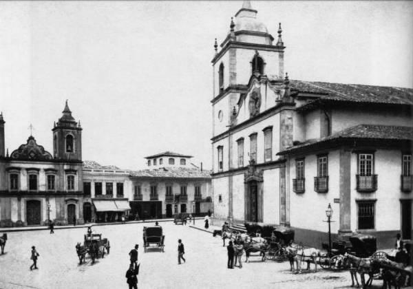 Matriz da Sé, em foto de Militão Augusto de Azevedo, década de 1860