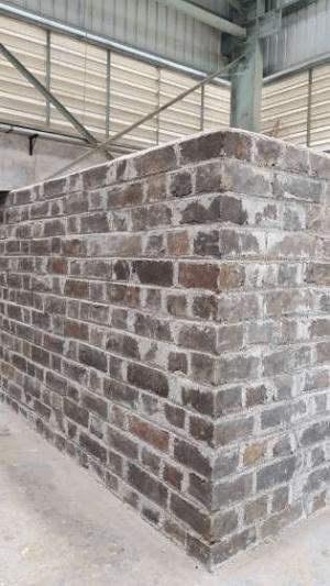 parede de tijolos sustentáveis