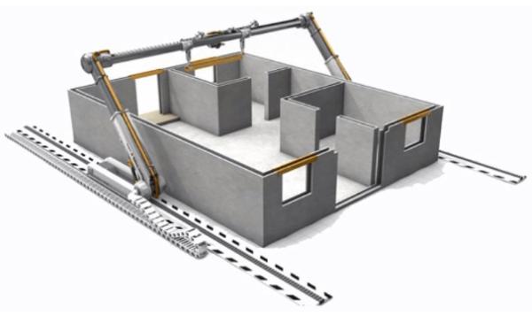 Estações robóticas na construção civil