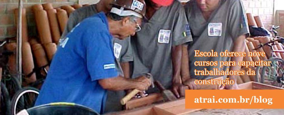 Escola oferece nove cursos para capacitar trabalhadores da construção