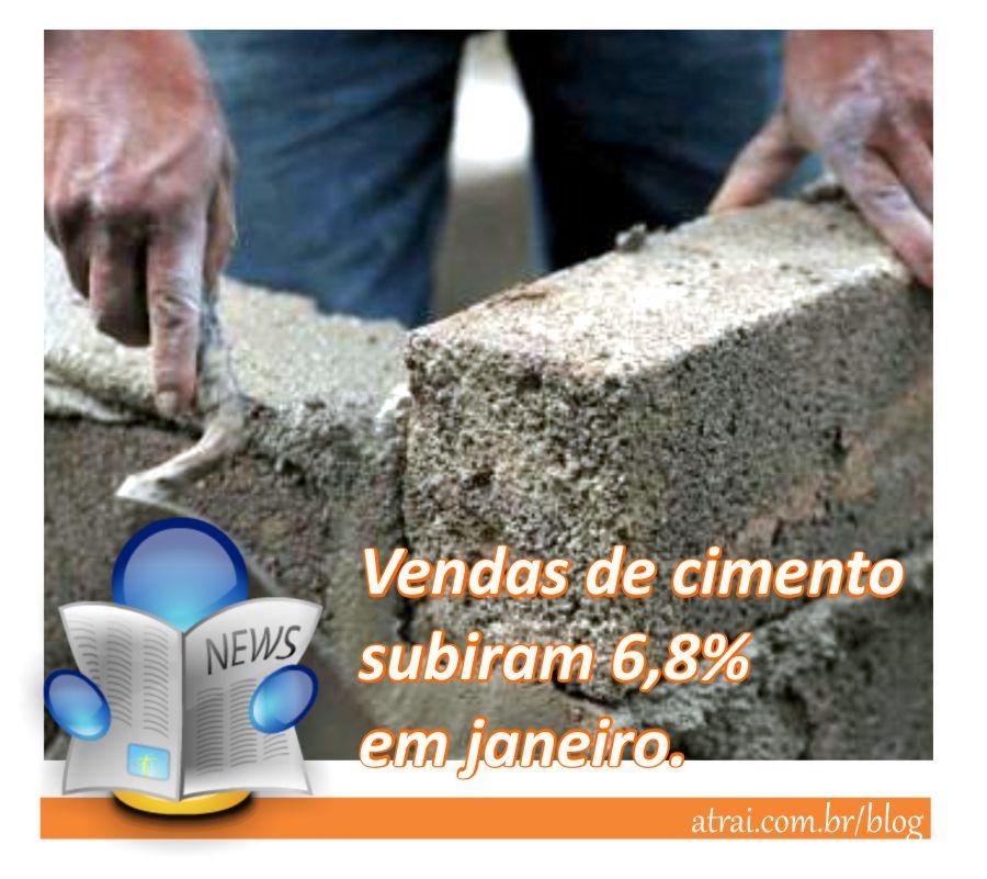 Vendas de cimento subiram 6,8% em janeiro